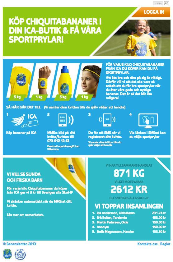 Ica, Chiquita, kampanj