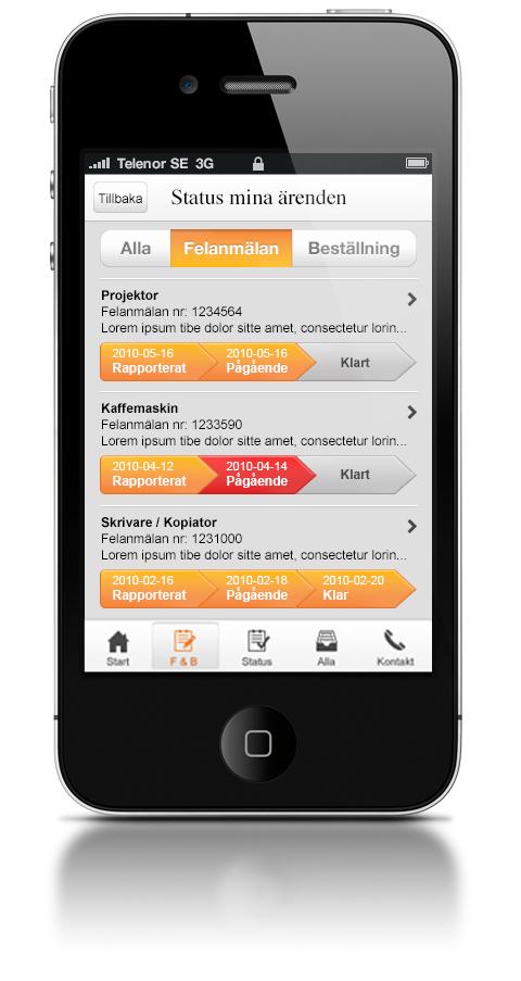 Core Serviceportal, mobil