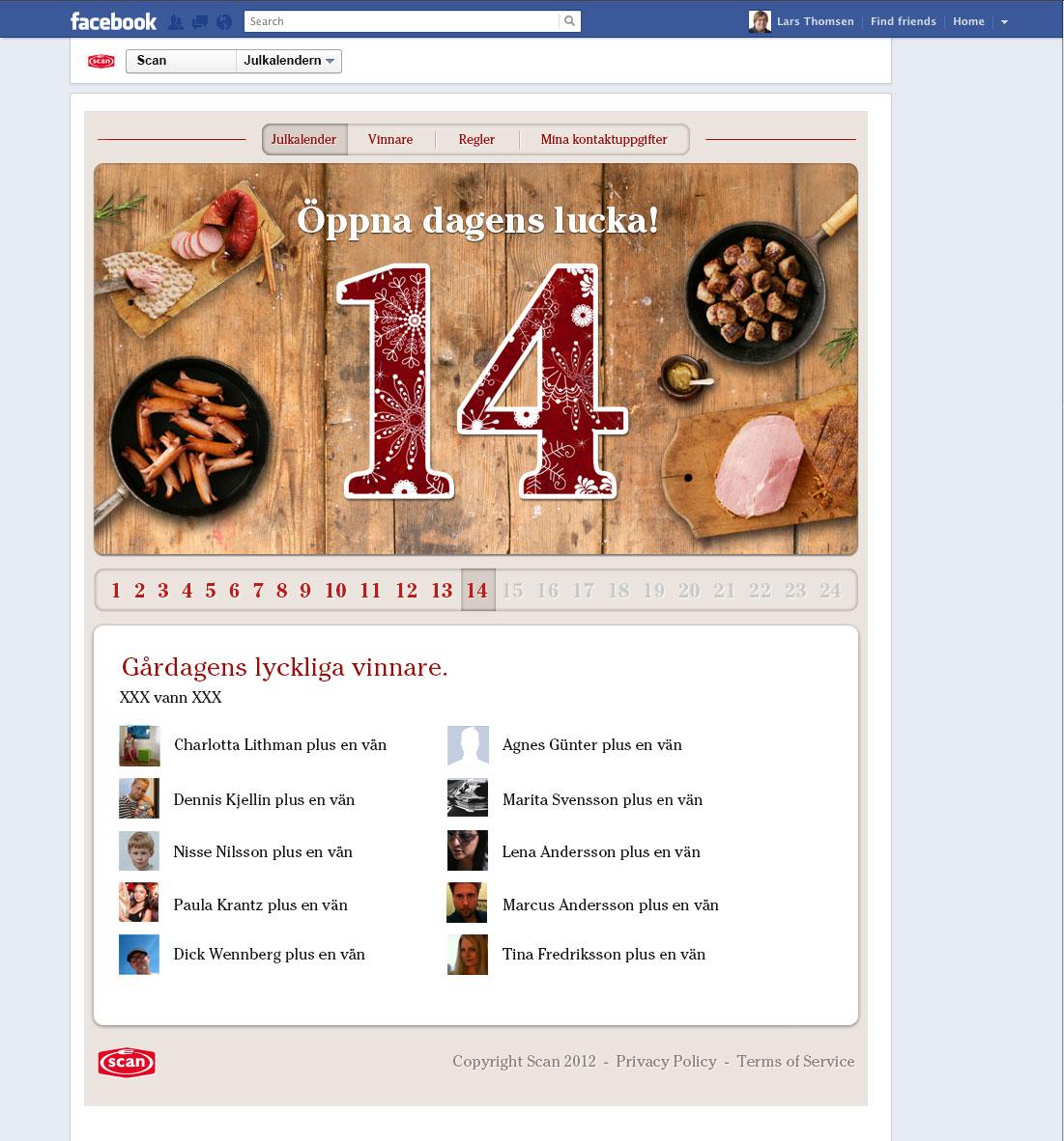 Julkalender, scan, kampanj
